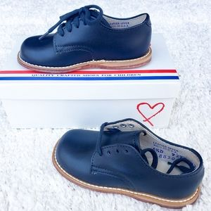 FootMates Willy-Classic Oxford, Navy Dress Shoes